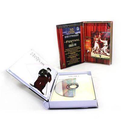 书本形状幽默话剧学习光盘铁盒生产厂家