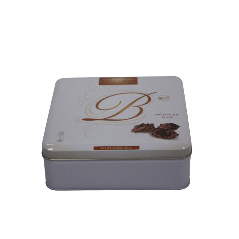 方形巧克力马口铁盒生产定做工厂