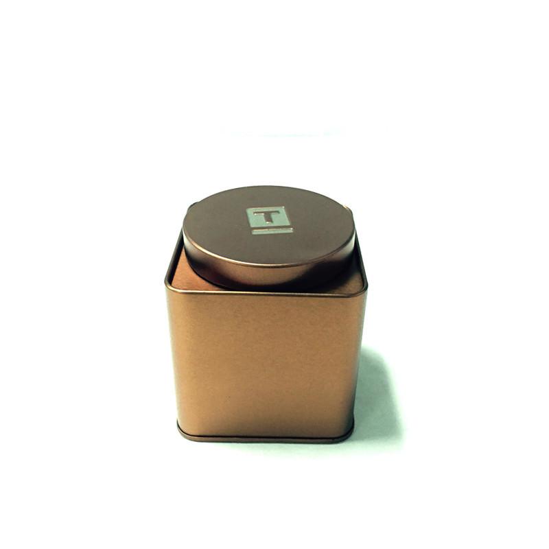 正方形竹叶青茶叶包装铁盒制罐工厂