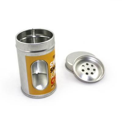 马口铁圆形开窗牙签罐生产厂家