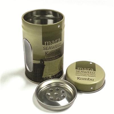 金属开窗调料圆罐定制工厂