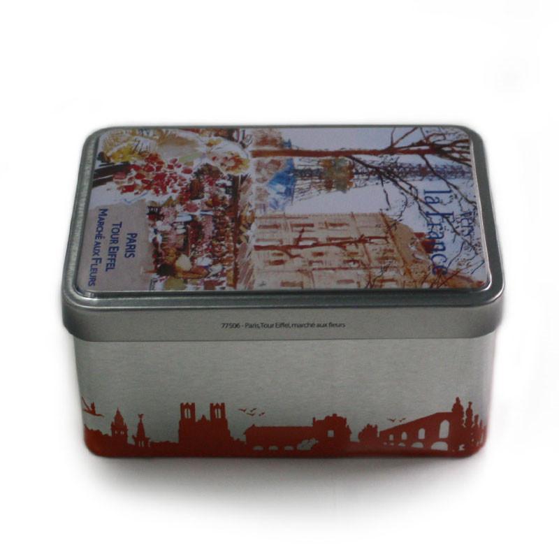 广州带铰链花茶茶叶铁罐制罐厂家