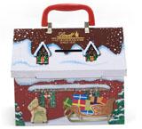 屋子形状圣诞礼品铁盒定制厂家