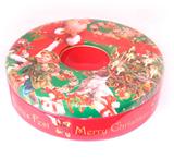 圣诞节圆形糖果铁盒定制厂家