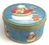圆形圣诞节蛋糕铁盒定制厂家