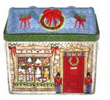 马口铁创意圣诞屋子铁盒定制