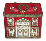 圣诞马口铁屋子铁皮罐子定制