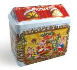 马口铁圣诞屋子铁罐生产商