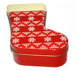 厂家直销马口铁圣诞袜子铁盒