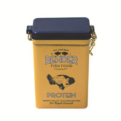 天派定制马口铁长方鱼食包装密气罐