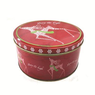 圣诞糖果饼干礼品包装铁罐