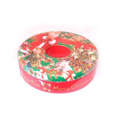 糖果包装圣诞甜甜圈铁罐