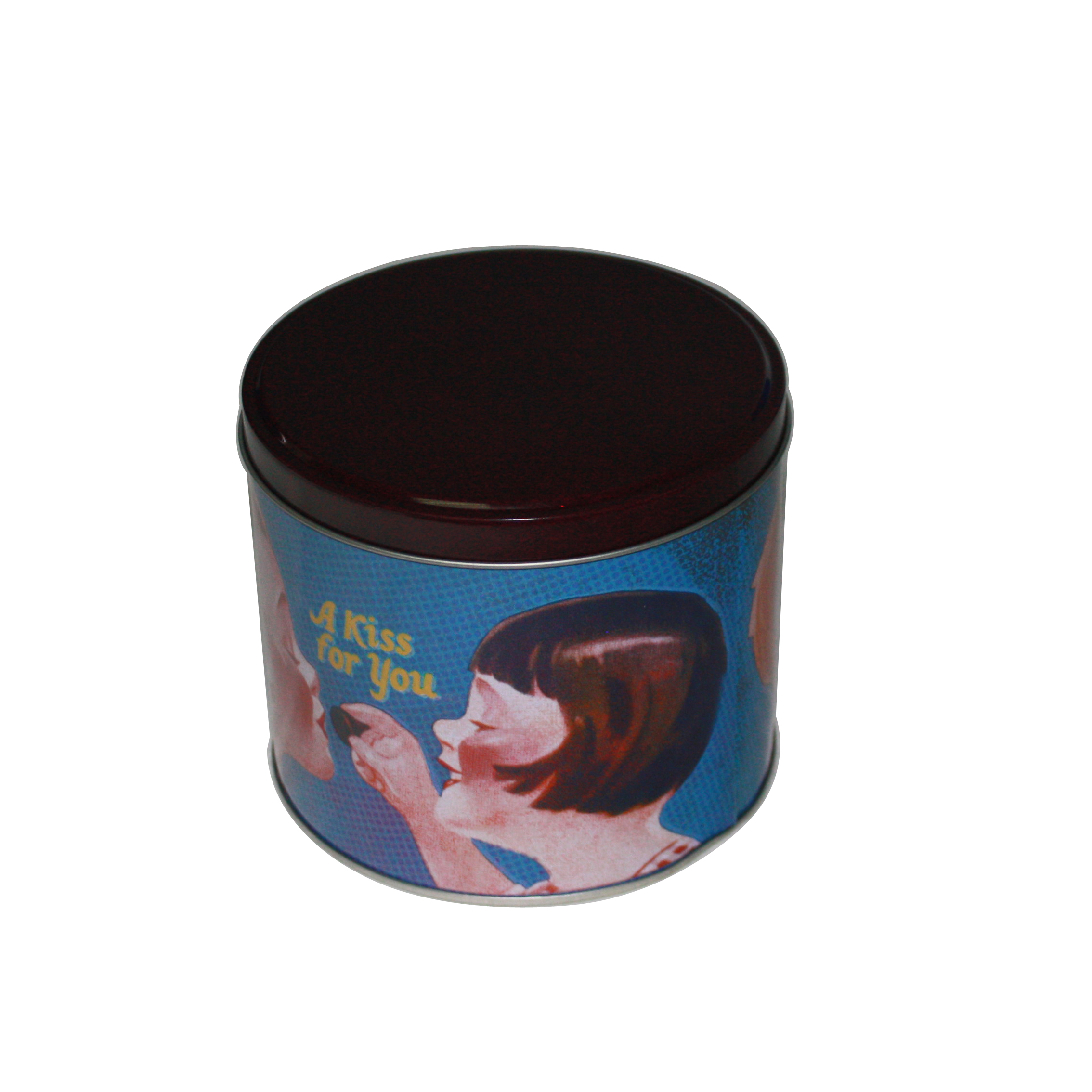 厂家定制圆形巧克力马口铁包装盒