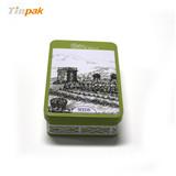 长方形翻盖式茶叶铁罐定制生产