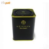 高档黑茶包装铁盒方形定制