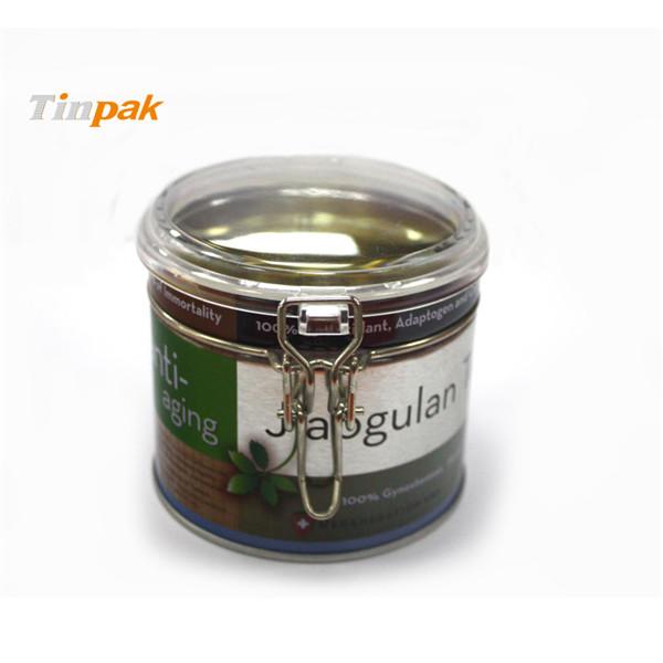 透明盖马口铁密气茶叶罐定制