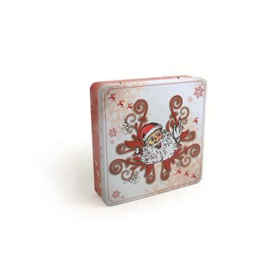挂铰圣诞CD方形铁盒  圣诞音乐包装铁盒