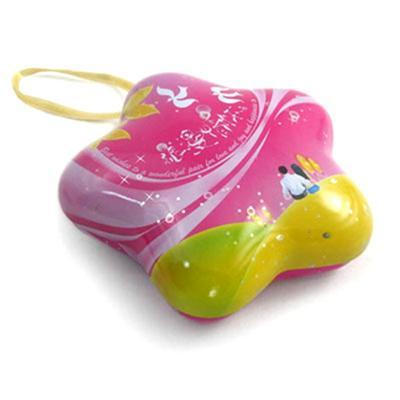 圣诞小号星形糖果铁盒生产厂家