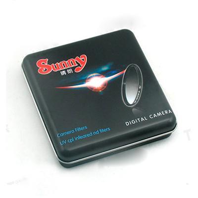 行车电子记录仪紫光镜片包装铁盒