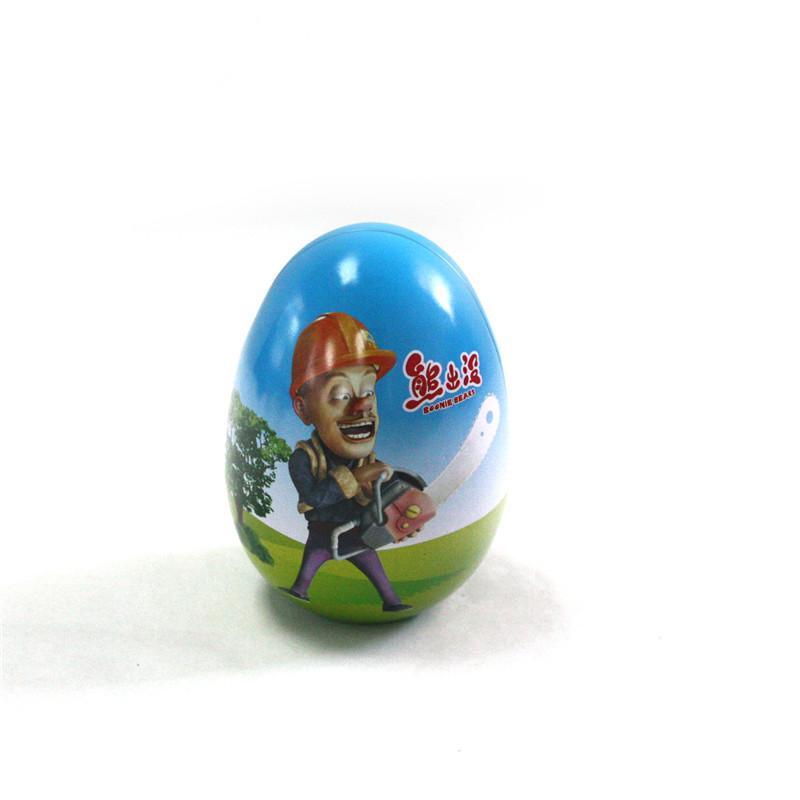 蛋形巧克力马口铁包装盒定做生产工厂