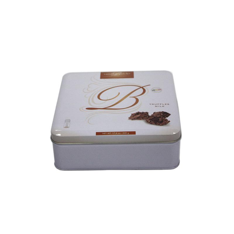 方形高档巧克力马口铁包装盒生产定做工厂